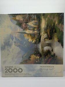 Springbok Thomas Kinkade Mountain Chapel 2000 Jigsaw Puzzle 1999 NEW SEALED