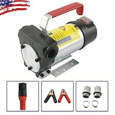 12V Fuel Oil Fuel Transfer Pump Kit Diesel Kerosene 175W 11GPM 7.72lbsg Portable