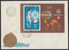Ungarn Hungary 1973 FDC Bl.96 B Weltraum Space Olympische Spiele Olympic[sr2815]
