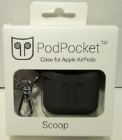 Podpocket Scoop Black Case For Apple AirPods Generation 1 & 2
