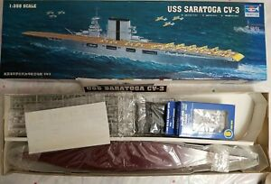 2006 TRUMPETER 05607 USS SARATOGA CV-3 - 1/350 SCALE KIT w/06209 CORSAIRS (6 PK)