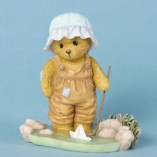 Cherished Teddies Walker Setting Sail or Sunny Days Bear with Stick & Boat NEW