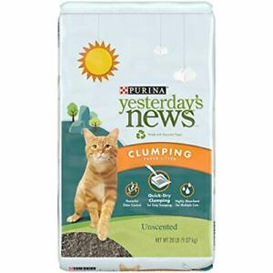 PURINA Yesterday's News Clumping Paper Cat Litter Unscented Multi Cat Litter ...