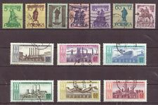 Poland, Warsaw Monuments, & Industry, Cancelled to Order hinged, Used, 1955 1964