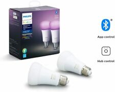 Philips Hue White and Color Ambience A19 2 pack bulbs E26, Brand New