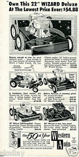 1959 Print Ad of Western Auto Wizard Deluxe Lawn Mower