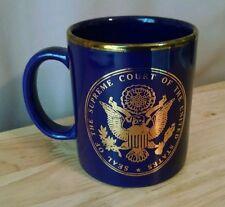 Blue & Gold US Supreme Court Coffee Tea Mug Washington DC Eagle Seal Justice