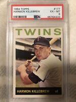 1964 Topps #177 Harmon Killebrew PSA 6 Minnesota Twins baseball card Vintage