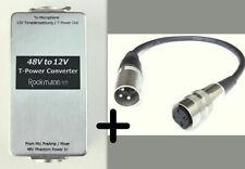 P48/T12 PHANTOM to T-POWER CONVERTER + Tuchel Adapter Sennheiser MKH416 405 406T
