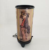 "Eden Art Cylinder Light 13"" Vintage Hobo Girl Harlequin TV Lamp Mid Century"