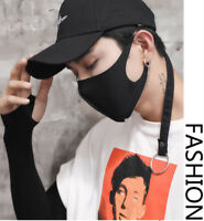 Unisex Health Cycling Fashion Anti-dust Cotton Mouth Face Mask Black Respirator