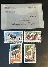 MAURITANIA postage stamps 1953 set of 4 mint