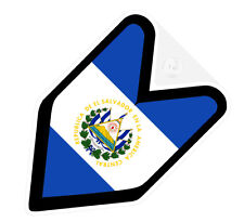 ## JDM DRIVER BADGE EL SALVADOR SALVADORIAN Car Decal Flag not vinyl sticker ##