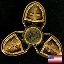 Tiger Crusader Fidget Hand Spinner Gold Cross Shield 2017 Must Have Toy Gift