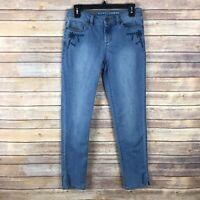 Lauren Conrad Womens Size 6 Skinny Leg Embroidered Jeans Stretch Boho Denim