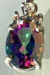 Mystik Topas Silberanhänger (925 Sterling Silber)
