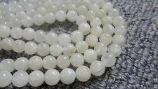 8mm Round Natural Moonstone Gemstone Beads - Half Strand