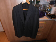 """1970s Mr Harry Classic Edition Charcoal Pin Stripe Jacket Chest 40"""""""