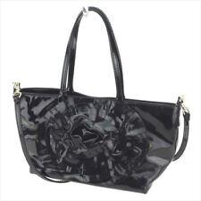 Valentino Garavani Tote bag Black Enamel leather Woman Authentic Used T8403