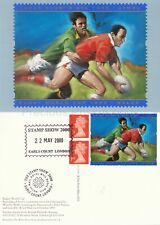 GB POSTCARDS PHQ CARDS USED REAR FDI 2000 RUGBY WORLD CUP LABEL D15 STAMP SHOW