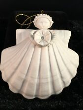"Margaret Furlong Sea Shell Angel Morning glory 3"" 1996 Christmas Ornament"