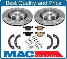 REAR Disc Brake Rotors Pads Parking Shoes Springs for 06-10 BMW 650i 100% NEW