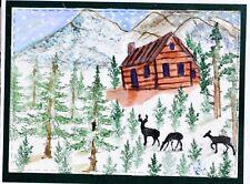 Art Impressions Rustic Cabins JUSTOUT U get photo #2 L@@K@examplen RUBBER STAMPS