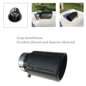 Gel-coated Carbon Fiber Car Exhaust Pipe Tail Muffler End Tip 54mm In-89mm Out