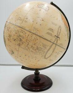 """George F Cram USA Classic 12"""" Terrestrial Earth World Globe Wood Base"""