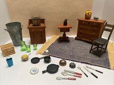 Vintage Artisan Dc 77' Primitive Furniture Kitchen Items Dollhouse Miniature