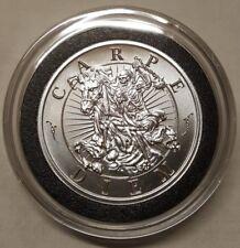 2oz Skull Horseman Rider Memento Mori - Carpe Diem Silver Round Pirate Coin