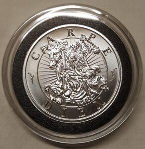 2oz Skull Memento Mori Carpe Diem Silver Pirate Coin #1 Latin Allure Series