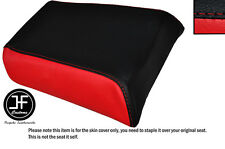 RED AND BLACK VINYL CUSTOM FITS GILERA MX1 125 REAR LEATHER SEAT COVER ONLY
