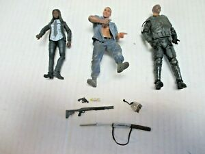 lot of 3 (loose near complete) The Walking Dead action figures Mcfarlane