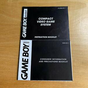 Gameboy Pocket Instruction Manual + Console Consumer Information Booklet MGB-UKV