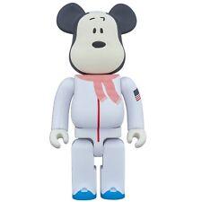 $140 Medicom Peanuts Astronaut Snoopy 400% Bearbrick Figure white