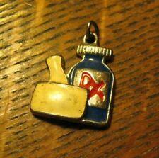Pharmacist Rx Vintage Charm Medal - Medicine Mortar Pestle Drugs Dispensary