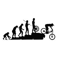 Mountain Bike Downhill Window Car Sticker Laptop Truck Black Vinyl Decal Sticker
