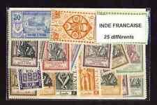 Inde Française 25 timbres différents