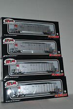 4 Atlas CN Canadian National  Coal Gondolas with Loads Ho Scale