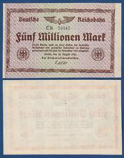REICHSBAHN BERLIN 5 Millionen KASSENFRISCH MG 8d / P.S1013d