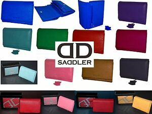Saddler Genuine Leather 12cm Multi Compartment Purse Wallet Boxed