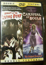 Double Feature DVD - NIGHT OF THE LIVING DEAD & CARNIVAL OF SOULS - New/Sealed!