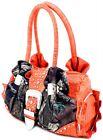 Mossy Oak Camo Orange Rhinestone Purse, Camouflage Handbag