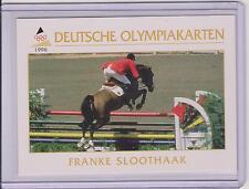 1996 DEUTSCHE OLYMPIAKARTEN ~ FRANKE SLOOTHAAK OLYMPIC CARD #45 ~ EQUESTRIAN