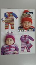 Patons Pattern Leaflet #0015 Baby Magic Rompers Beanie & Rattle to Knit