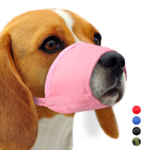 Nylon Dog Muzzles Adjustable Pet Anti-Bark Bite Mouth Cover for Small Large Dogs