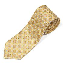 ERMENEGILDO ZEGNA Gold SIlver Spectaular Kaleidoscope Geo Men's Silk Neck Tie
