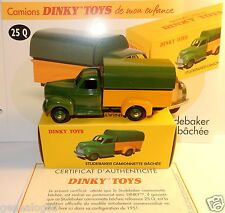 DINKY TOYS ATLAS STUDEBAKER CAMIONNETTE BACHEE BICOLORE 1/48 REF 25Q IN BOX