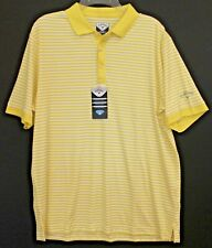 Callaway Mens Yellow Striped Comfort Performance Golf Polo Shirt NWT $60 Size S